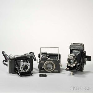 Plaubel Makina and Two Zeiss Ikon Cameras