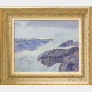 Frank W. Handlen (American, b. 1916)      Big Seas