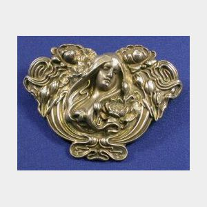 Art Nouveau Sterling Silver Brooch