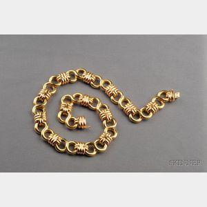 18kt Bicolor Gold Necklace, Black, Starr & Frost