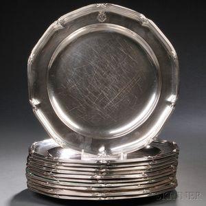 Twelve George III Sterling Silver Plates
