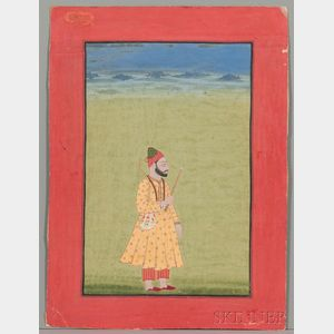 Miniature Portrait of a Mughal Ruler