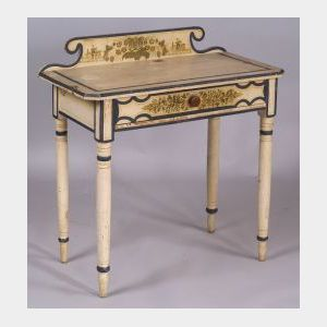 Diminutive Paint Decorated Dressing Table