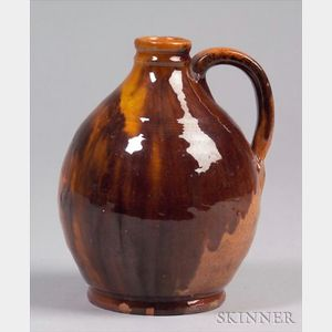 Redware Ovoid Vinegar Jug