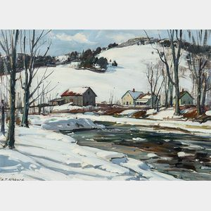 Aldro Thompson Hibbard (American, 1886-1972)      Winter Stream, Vermont
