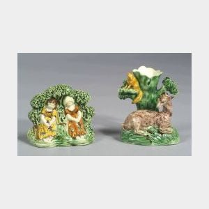 Two Staffordshire Pottery Items