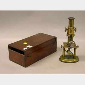 French Lacquered-Brass Microscope