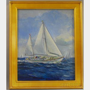 Dean Waite (American, b. 1923)      Summer Yachting