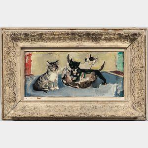 Francis Chapin (American, 1899-1965)      Kittens at Play