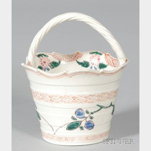 Staffordshire White Saltglazed Stoneware Basket