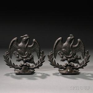 Pair of Cast Iron Eagle Doorstops