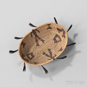 Pomo Miniature Pictorial Basket