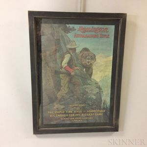 Framed Remington Rifle The Right of Way   Poster