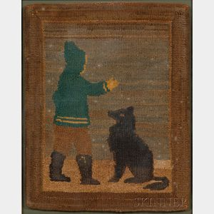 Two Small Framed Grenfell Mats with Sled Dogs