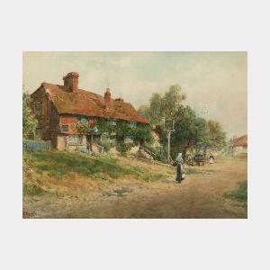 W. H. Finch  (British, 19th/20th Century)  By the Village Inn