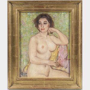 Alfred Di Cesare (American, 1910-1993)      Woman Disrobed