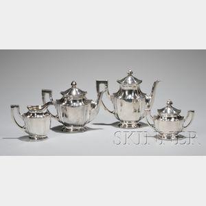Classical Four-piece Italian .800 Silver Coffee/Tea Service