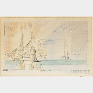 Lyonel Feininger (American 1871-1956)      Ausfahrende Barke