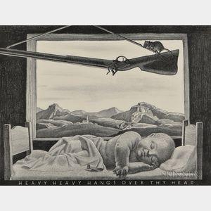 Rockwell Kent (American, 1882-1971)      Heavy Heavy Hangs Over Thy Head