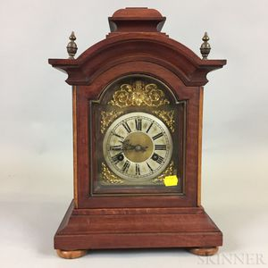 Brass and Mahogany Bracket Clock