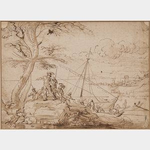 Italian School, 17th Century      The Arrival of Aeneas