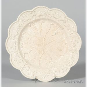 Staffordshire White Saltglazed Stoneware Plate