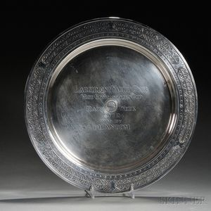 Mauser Sterling Silver Larchmont Yacht Club Trophy Charger