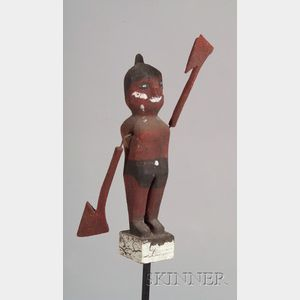 Carved and Painted Indian Whirligig