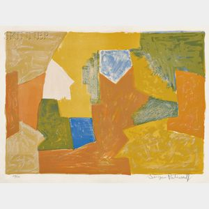 Serge Poliakoff (Russian, 1906-1969)      Composition in Yellow, Orange, and Green
