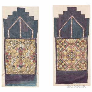 Pair of Moroccan Silk Needlepoint Panels