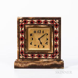 Tiffany & Co. Enameled Clock