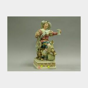 Sebastian-type Cavalier Ceramic Figure.