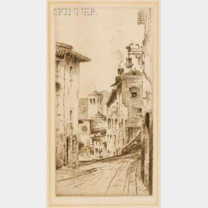 John Taylor Arms (American, 1887-1953)      An Umbrian Street