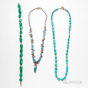 Three Bead Necklaces