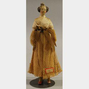 "Papier-mache ""Milliner's Model"" Doll"