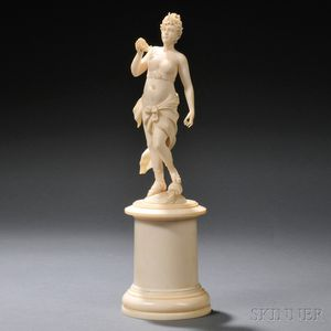 Carved Ivory Figure of a Maiden