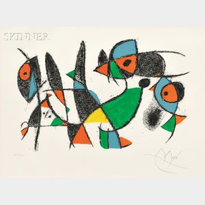 Joan Miró (Spanish, 1893-1983)      Plate 10   from LITHOGRAPHS II
