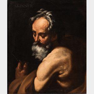 Attributed to Giovanni Battista Beinaschi (Italian, 1636-1688)      St. Bartholomew