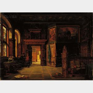 Heinrich Anton Heger (Danish, 1832-1888)      Baroque Interior Scene