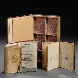 Assorted Lot, Three Rare Books and a Book Safe.