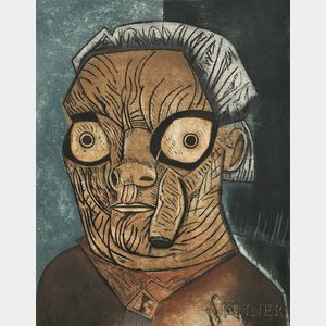 José Luis Cuevas (Mexican, b. 1933)      Untitled