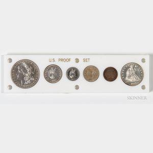1887 Six-coin Proof Set