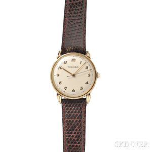 Gentleman's 14kt Gold Wristwatch, Tiffany & Co.