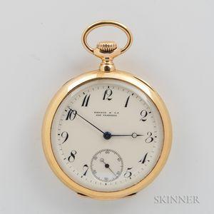 Patek Philippe 18kt Gold Open-face Watch for Shreve & Co.