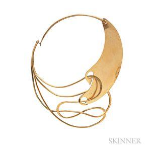 "Brass ""Half & Half"" Necklace, Art Smith"