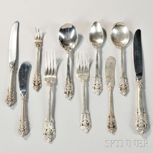 "Fifty-two Pieces of Wallace ""Grand Baroque"" Sterling Silver Flatware"