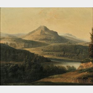 Jean-Joseph-Xavier Bidauld (French, 1758-1846)      Landscape with River and Mountain