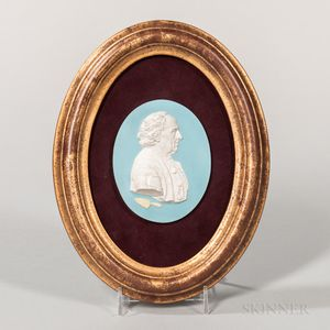 Wedgwood Tricolor Jasper Edward Bourne Portrait Medallion