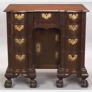 Sold for: $171,000 - Chippendale Carved Mahogany Bureau Table