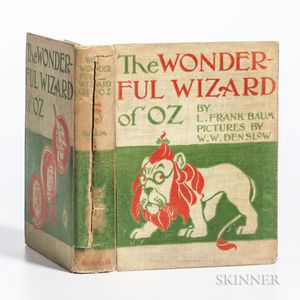 Baum, L. Frank (1856-1919) The Wonderful Wizard of Oz  , First Edition, Second State, Binding B.